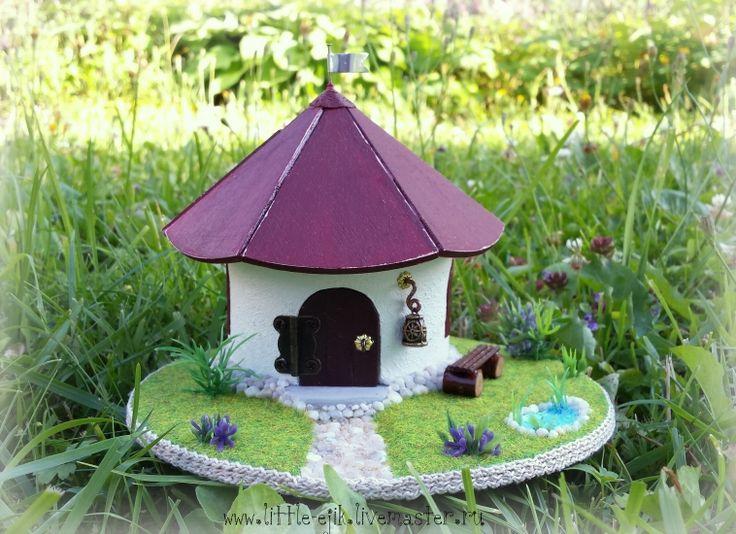 """Купить миниатюра """"Домик гнома"""" - разноцветный, домик, флюгер, миниатюра…"""