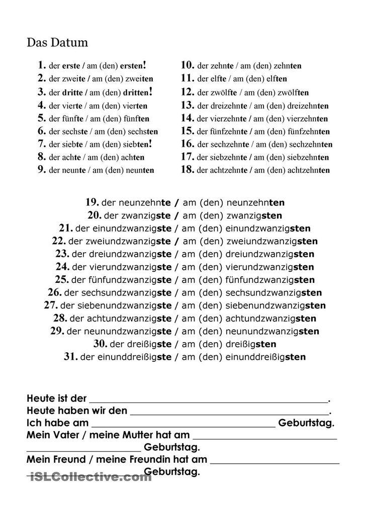 142 best Deutsch lernen images on Pinterest | German language, Learn ...