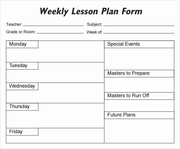 Weekly Lesson Plan Template Pdf New Weekly Lesson Plan 8 Free Download For Word Ex Lesson Plan Template Free Weekly Lesson Plan Template Printable Lesson Plans