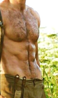 Bloody hell! Aidan Turner's extraordinary and succulent physique needs a tongue bath.