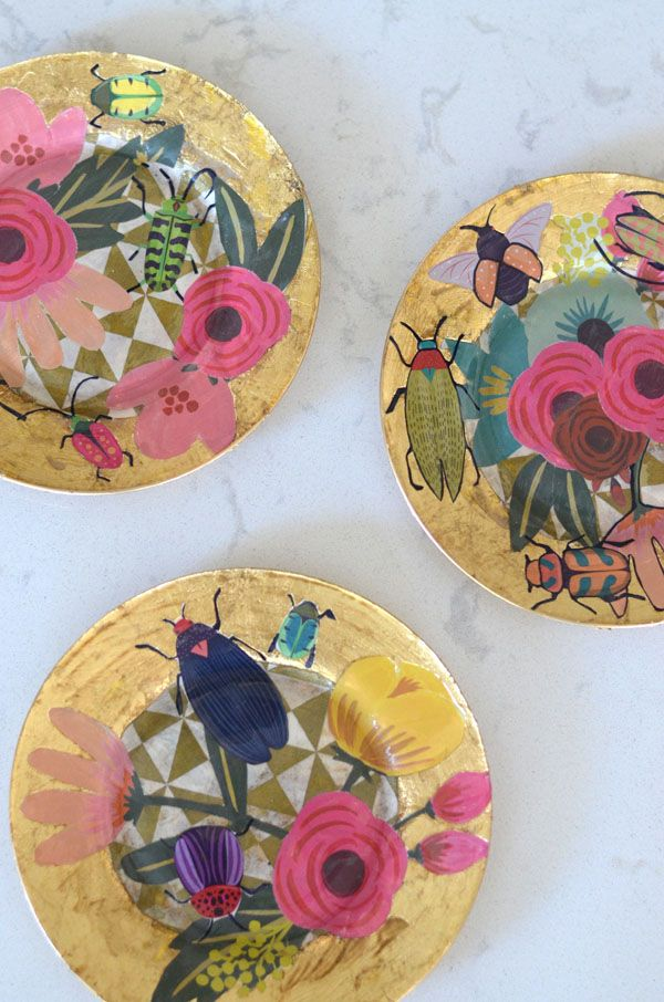 Mimosa Lane: DIY || Decoupage Plates and a Me in a Video??