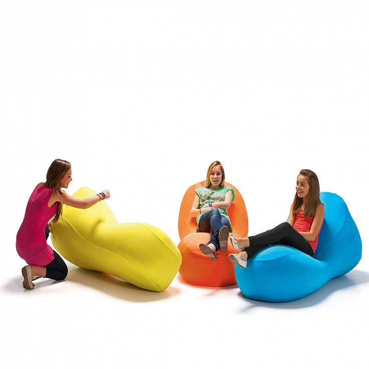 i-Bone expandable pouf for outdoor & indoor, flamboyant colours, reliable and durable fabrics.