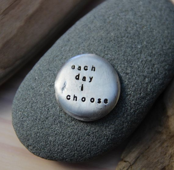 """Over the last few years, the phrase """"Each Day I Choose"""" has been a guiding force of support for me. I use it to remind me that each day I choose where my energy and time go. I choose to let in more love or not. I choose to see beauty and remember I truly am not alone. You get to make these choices too, and my hope is that this talisman will be a source of support and reminder of love for you."""