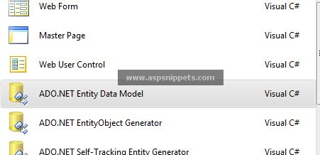 Call and execute a Stored Procedure in Entity Framework in ASP.Net using C# and…