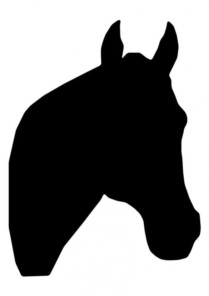 "Horse Head Silhouette - 64-24"" Removable Wall Graphic"