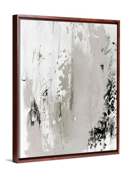 Neutral art - Black Truffle abstract canvas print from Lindsay Letters.