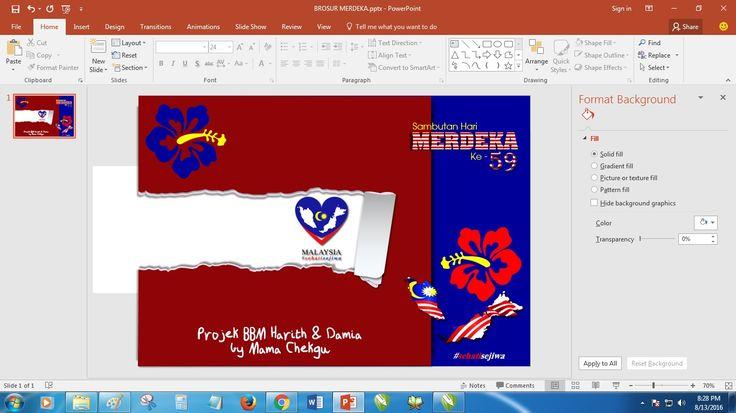Mama Chekgu (MC): Brosur Merdeka 2016
