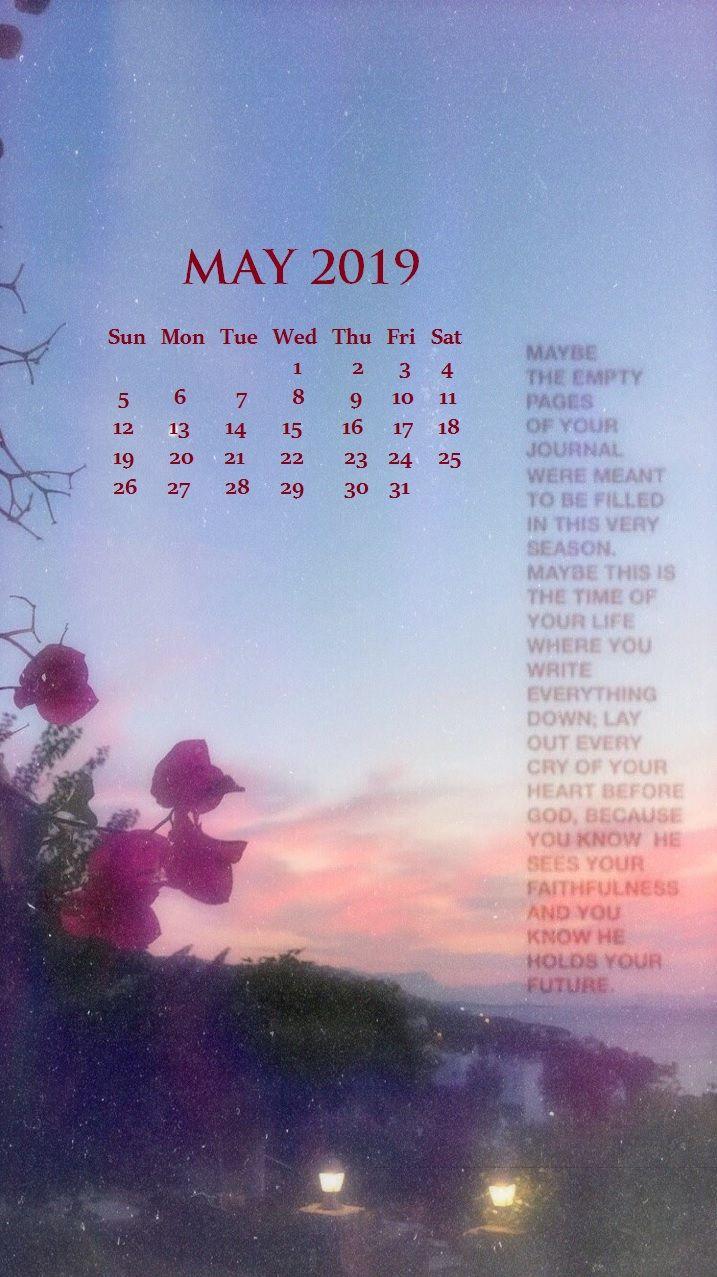 iphone may 2019 calendar wallpaper