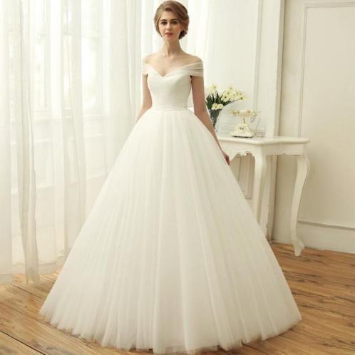 Bruidsjurk prinsessenstijl met aparte rok van tule
