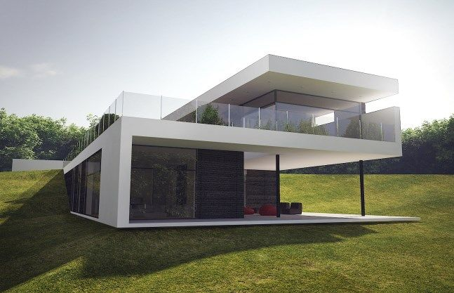 Villa a rendering by ng architects modern houses for Rendering case moderne