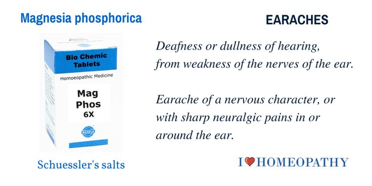 Deafness or dullness of hearing, from weakness of the nerves of the ear. Earache of a nervous character, or with sharp neuralgic pains in or around the ear.