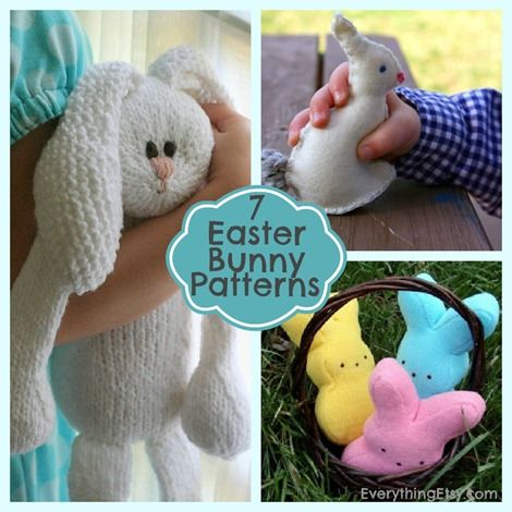 Easter 10 handpicked ideas to discover in other 7 easter bunny patterns on everythingetsy negle Gallery