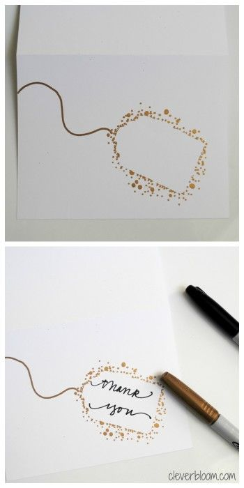 DIY Craft: Make your own Thank You Cards.  These are so simple yet so elegant!  Visit <a href=