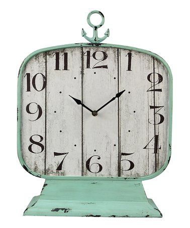 Look what I found on #zulily! Mint Table Clock #zulilyfinds