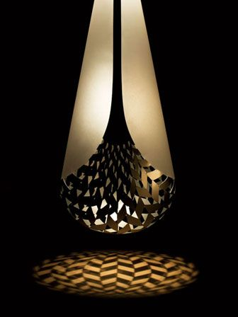 David Trubridge - Kete Tuauri. pendant fixture in aluminum - David, you rock