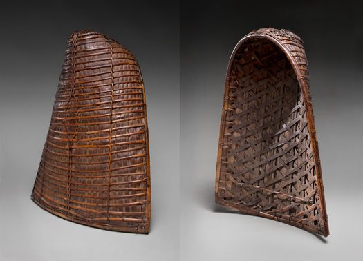 Basket Weaving Of Ifugao : Woman s basket and rain cape tudung th century ifugao