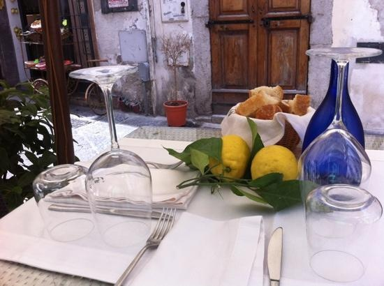 Ristorante Evu in Vietri sul Mare, Italy. Fabulous seafood and seating on the small patio outside.