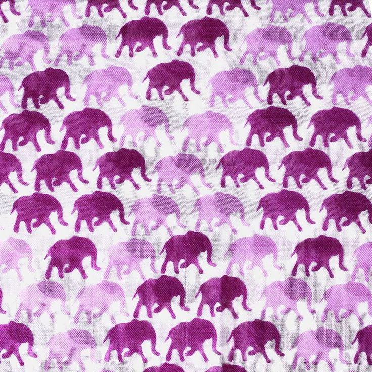 Elephant Print Stole - Handwoven fine wool stole in an array of colourful elephant prints options. A great travel accessory.
