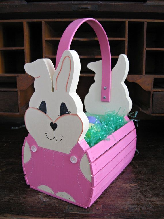 Handmade Wooden Easter Baskets : Best images about easter characters on