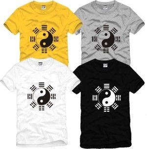 Male Women martial arts clothing leotard 100% cotton o-neck short-sleeve T-shirt $8