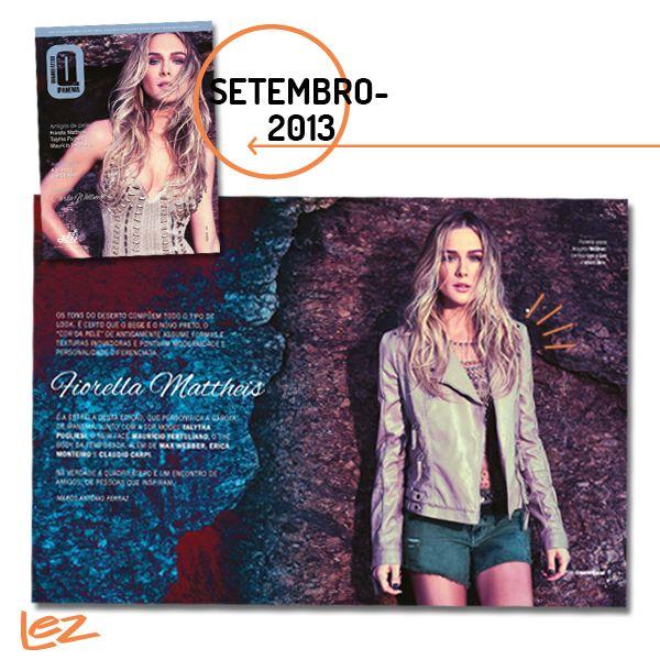 A atriz Fiorella Mattheis vestiu t-shirt estampada Lez a Lez em um ensaio fotográfico para a revista Quadrilátero e combinou super com o look estiloso dela! ;)