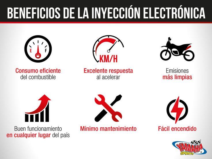 El sistema de #InyecciónElectrónica de combustible otorga una serie de beneficios importantes a tu motocicleta⛽️✅. Si aún no te has enterado de cuáles son las ventajas, acá te mencionamos las más importantes🔥🔝. #Yamaha #FuelInjection