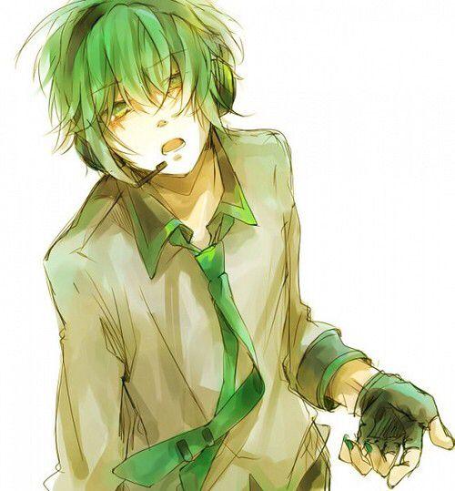 pin green male anime