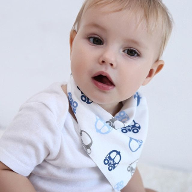 Girls Boys Bib Kids Waterproof Saliva Towel Gentleman Triangle  Feeding Bandana