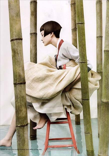 The Hanbok... Korean Vogue... Kim Kyung Soo