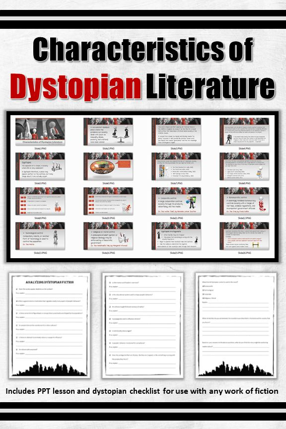 Characteristics Of Dystopian Fiction Ppt Lesson And -4287