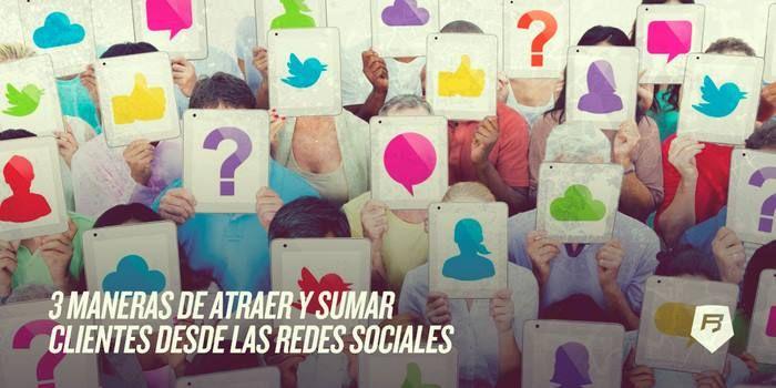 #redessociales [Especial #SocialMedia para #Ecommerce] 3 MANERAS DE ATRAER Y SUMAR CLIENTES DESDE LAS REDES SOCIALES  Tienes las 3 aquí >>> http://ecommerce-rebeldesonline.com/como-vender-online/