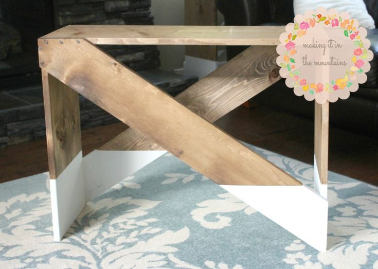 diy window treatments bedroom | Paint-Dipped DIY End Tables @ Making it in the Mountains
