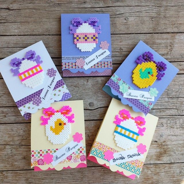 Easter cards hama beads by annalesartine