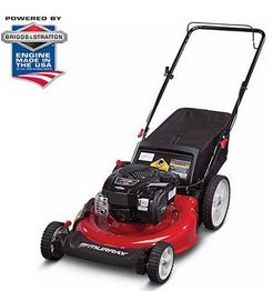 "Buy this Murray 21"" Gas Push Lawn Mower with Side Discharge, Mulching, Rear Bag and Rear High Wheel with deep discounted price online today."