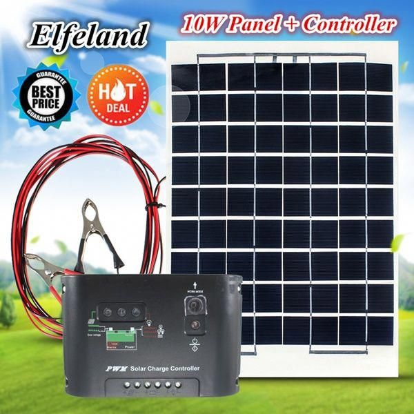 Sunpower 10w 12v Polycrystalline Solar Panel Solar Cell Poly Solar Module Battery Charger With 2 Alligator Clips A In 2020 Solar Module Solar Technology Solar Projects