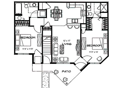 Garage Apartment Plans 2 Bedroom 13 best garage apartments images on pinterest | garage apartments