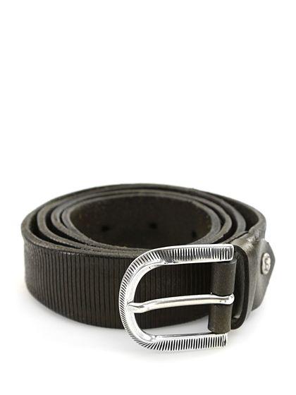 Sergio Gavazzeni - Cinture - Accessori - Cintura in pelle con  fibbia metallica, altezza 3 cm.Vite logata removibile per regolare lunghezza. - MIMETIK - € 59.00