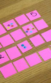 Maak een memory van nummers en hoeveelheden