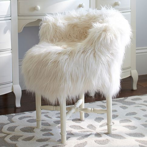 Fur Rific Minnie Stool Slipcover Pbteen Chair To Go With