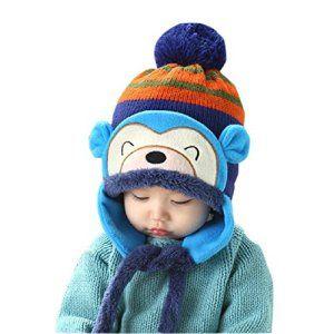 Malloom®Nouvelle Hiver de la Mode Kid Bébé au Chaud Fille Garçon Oreille épais Knit Beanie Chapeau (Bleu): Tweet Le paquet incluent: 1PC…