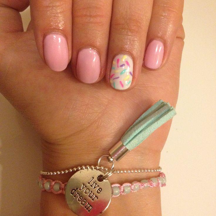 #hybryda #nails #summer #pink #white #manicure #paznokcie
