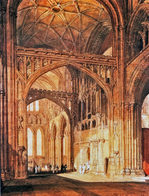 Joseph Mallord William Turner   Interior of Salisbury Cathedral , 1802-05