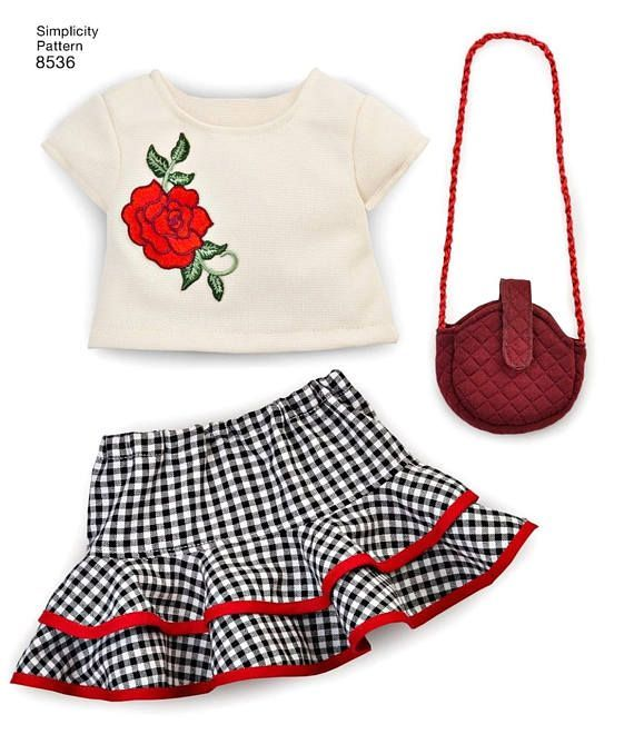 American Girl Doll Clothes Pattern 18 inch Doll Clothes