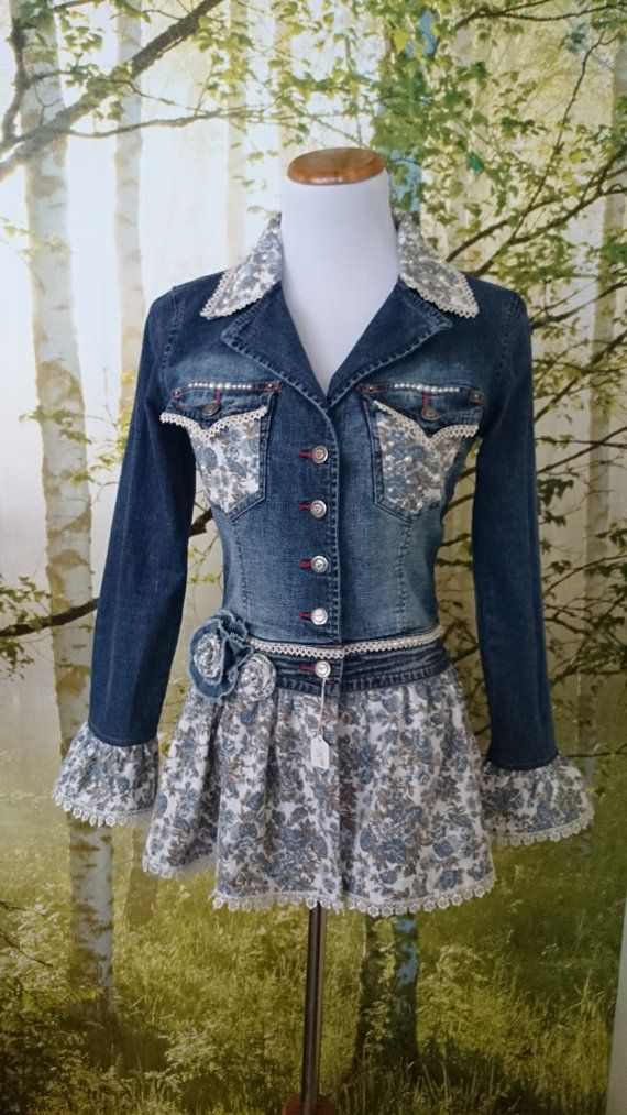 jean jacket inspiration https://www.etsy.com/listing/199691680/womens-embellished-refashioned-denim