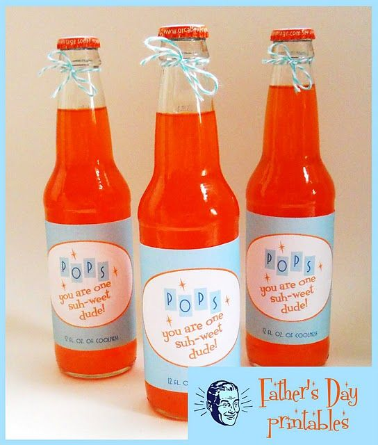 Father's Day - Print a vintage pop bottle label for your Pop!
