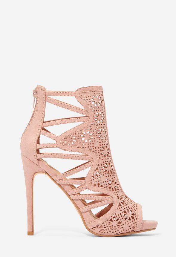 Can't Look Away Cutout Heeled Sandal Schuhe in blush