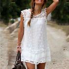 2016 Sexy Women's Summer Sleeveless Evening Party Beach Dress Mini Lace Dress #ad
