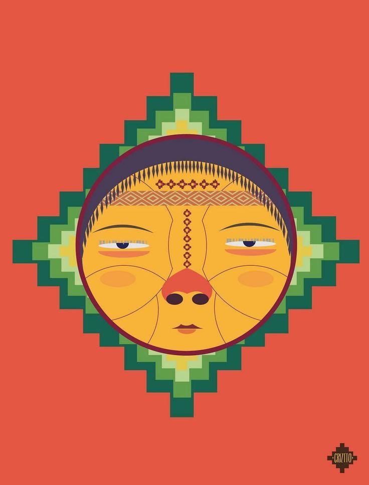 """Pachamama"" – Colorful Illustration Series by Cristobal Ramírez"