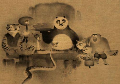 쿵푸 팬더 이미지 Kung Fu Family Portrait HD 바탕화면 and background 사진