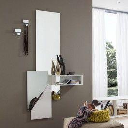 Consolle ingresso design con specchio laccato e vano a giorno varie finiture e colori - Art 1547 #design #specchio #arredamento #casa